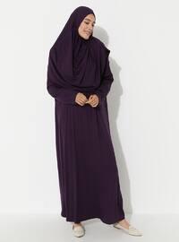 Mor - Astarsız - Namaz kıyafeti