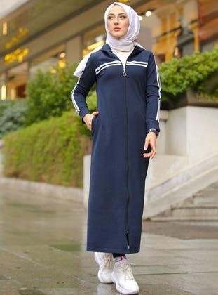 Navy Blue - Unlined -  - Topcoat - Tofisa