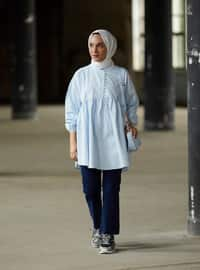 Ice Blue - Crew neck -  - Tunic