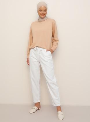 White -  - Pants - Everyday Basic