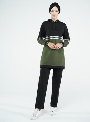 Black - Green -  - Tracksuit Set
