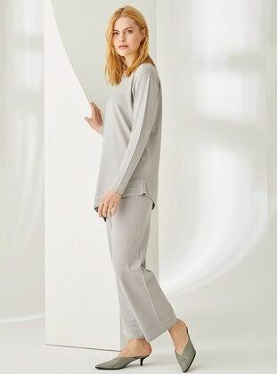 Gray -  - Viscose - Pants