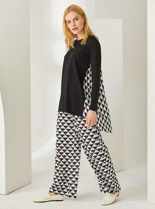 White - Black - Multi - Pants