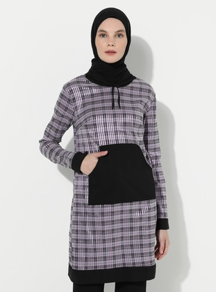 Lilac - Plaid -  - Tunic