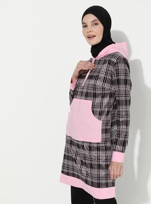 Pink - Stripe - - Tunic