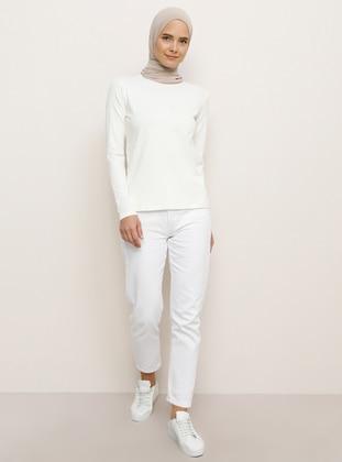 White - Ecru - T-Shirt - Everyday Basic