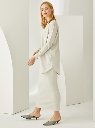 White - Unlined -  - Viscose - Skirt