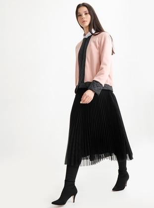 Powder - Black - Crew neck - Acrylic - Wool Blend - Jacket