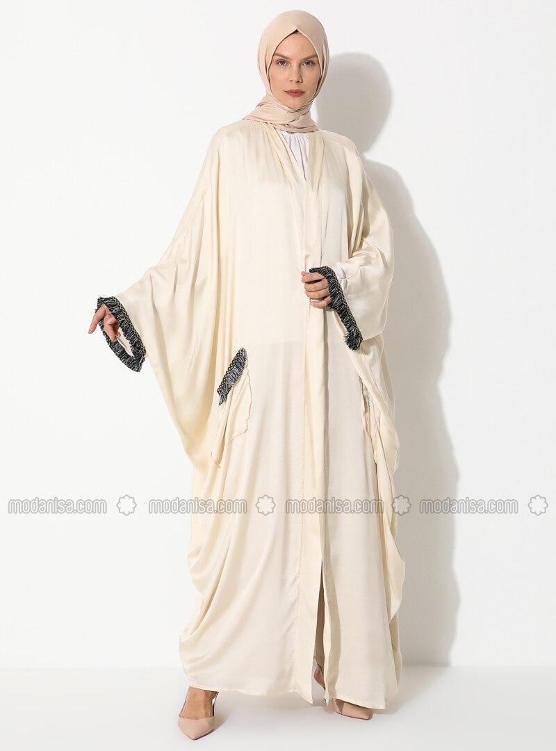 Cream Unlined Abaya