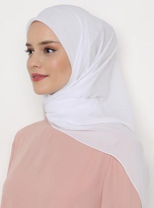 White - Plain - Scarf