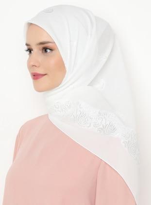Ecru - Plain - Scarf