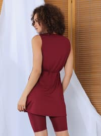 Maroon - Fully Lined - Fully Covered Swimsuits