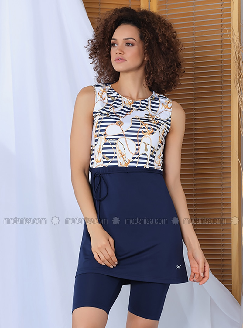 Navy Blue - Fully Lined - Fully Covered Swimsuits