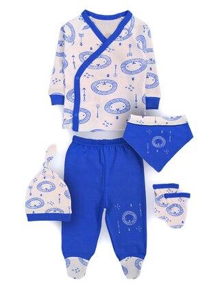 Multi - V neck Collar - - Multi - Blue - Baby Suit