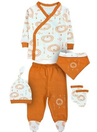Multi - V neck Collar - - Multi - Terra Cotta - Baby Suit