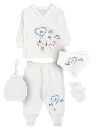 V neck Collar -  - White - Baby Suit - BY LEYAL