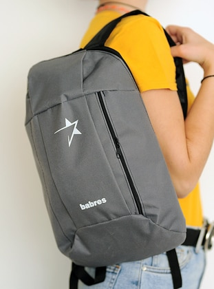 Gray - Backpack - Backpacks