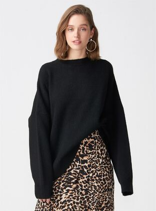 Black - Polo neck -  - Jumper