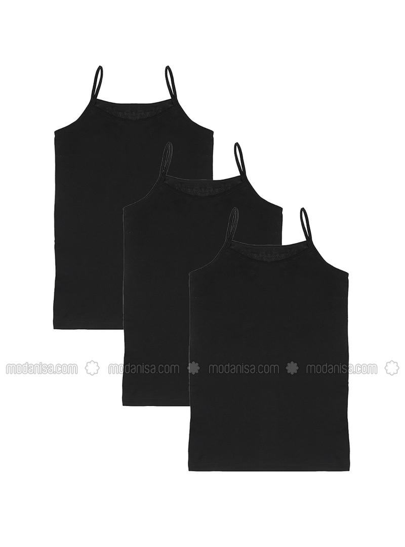Black - - Undershirt