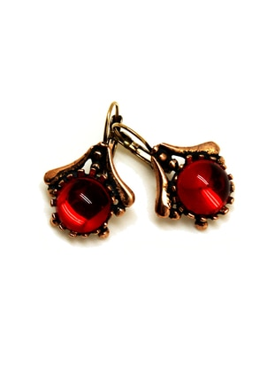 Gold - Bronze - Red - Earring