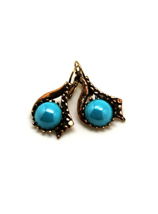 Gold - Turquoise - Earring