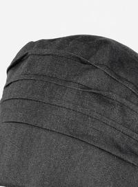 Black - Plain - Pinless -  - Instant Scarf