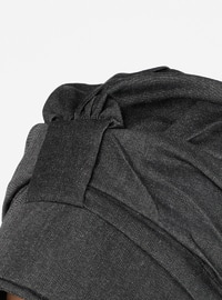 Black - Plain - Pinless -  - Instant Scarf