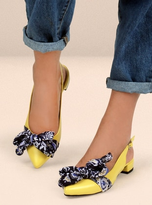 Yellow - Flat - Flat Shoes