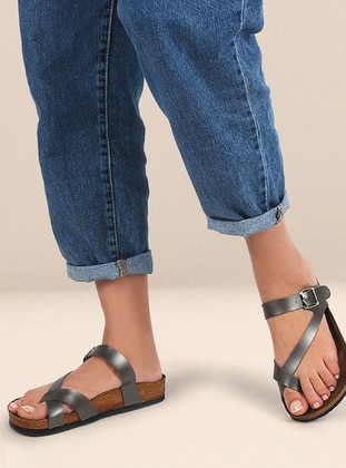 Anthracite - Sandal - Slippers