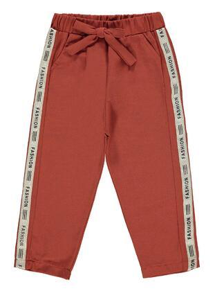 Orange - Girls` Sweatpants