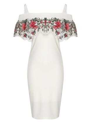 White - Sweatheart Neckline - Fully Lined - Dress