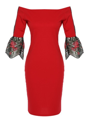 Red - Unlined - Dress