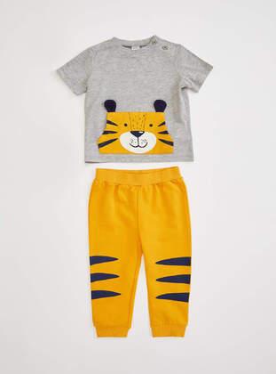 Gray - Baby Suit - DeFacto