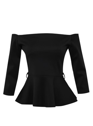 Black - Evening Blouses / Shirts - Mileny