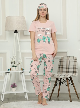Powder - Crew neck - Multi -  - Pyjama Set