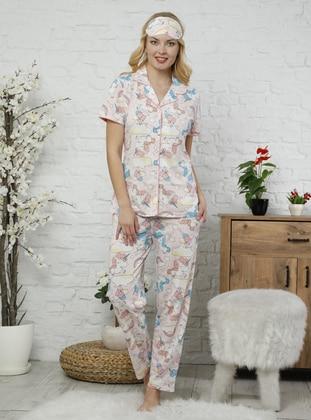 Powder - Point Collar - Multi -  - Pyjama Set
