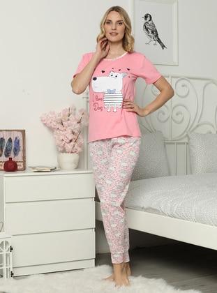 Powder - Crew neck - Multi -  - Pyjama Set
