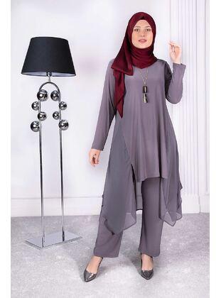Gray - Plus Size Evening Suit