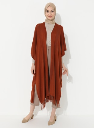 Terra Cotta - Unlined - Acrylic -  -  - Knit Cardigans