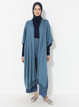 Blue - Unlined - Acrylic -  -  - Knit Cardigans