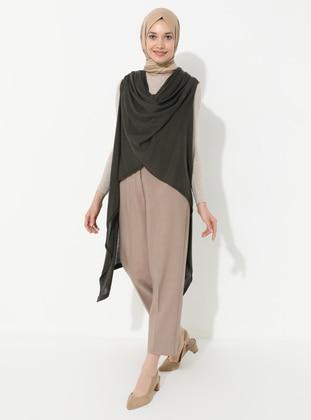 Khaki - Acrylic -  -  - Vest
