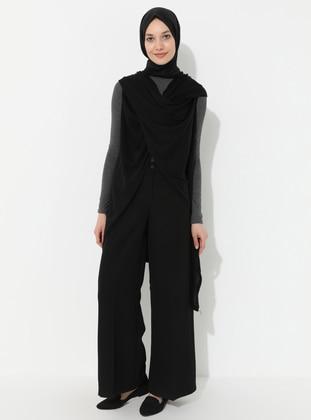 Black - Acrylic -  -  - Vest
