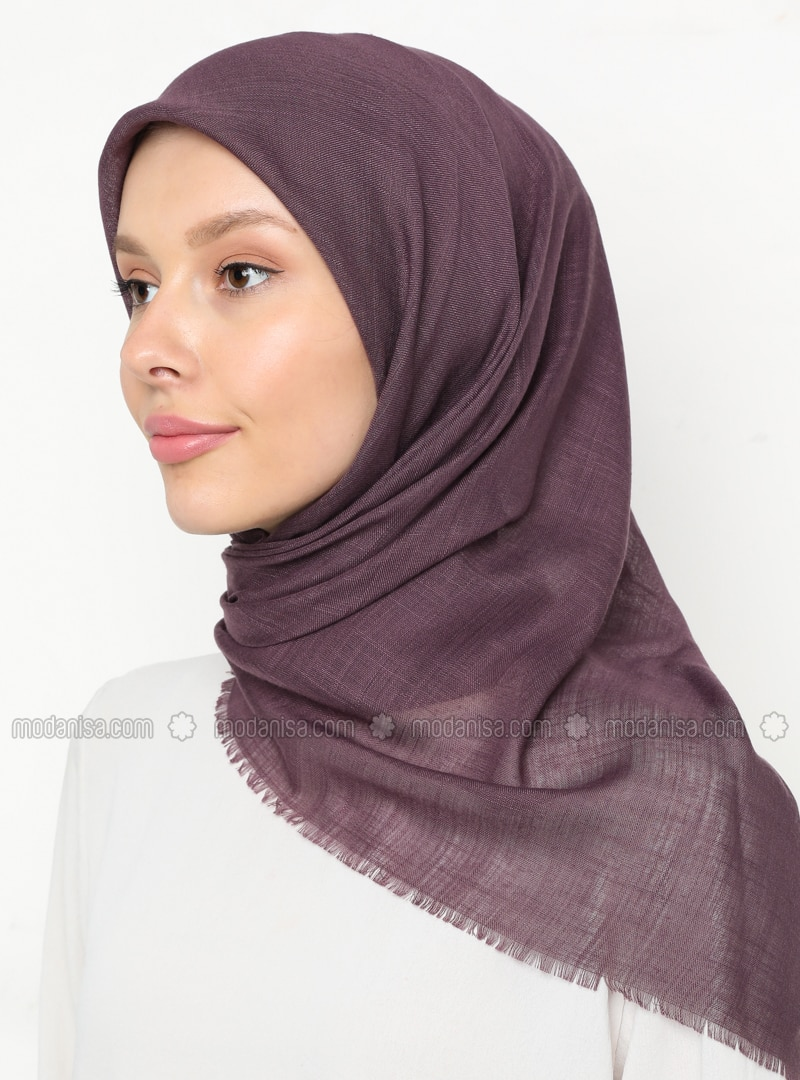 Lilac - Purple - Plain - Scarf