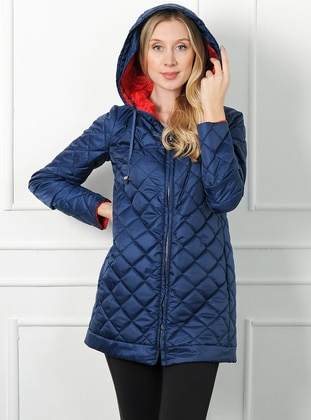 Navy Blue - Unlined - Acrylic - Puffer Jackets