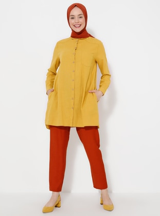 Terra Cotta - Linen - Pants