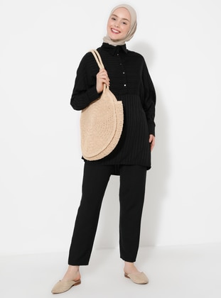 Black - Linen - Pants