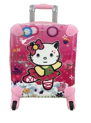 White - Pink - Multi - Suitcases