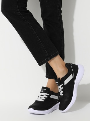 White - Black - Sport - Sports Shoes