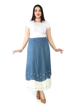 Indigo - Unlined - Denim - Skirt
