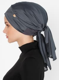 Anthracite - Plain - Pinless - Instant Scarf